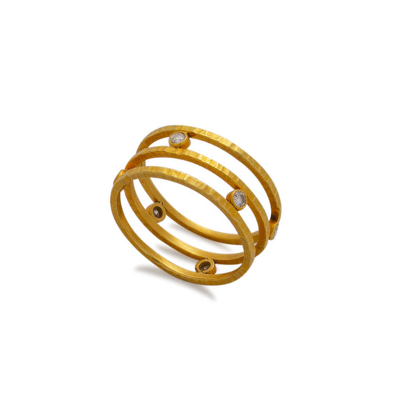 Maria Samora Ring of 18kt Gold and Diamonds