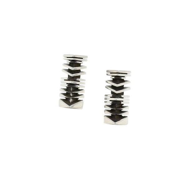 Isaiah Ortiz Silver Drop Earrings