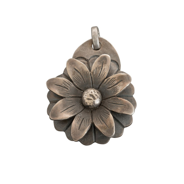James Faks Flower Pendant of Sterling Silver