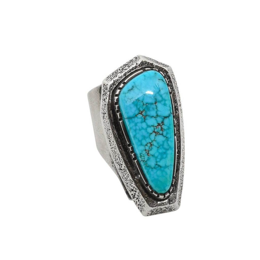 Larry Golsh Ring of Natural Turquoise
