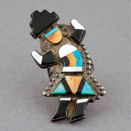 Vintage Zuni Rainbow Man Ring