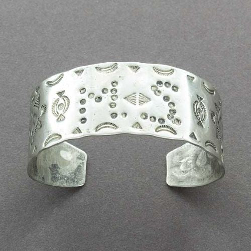Native American German Silver Bracelet With MS Initials