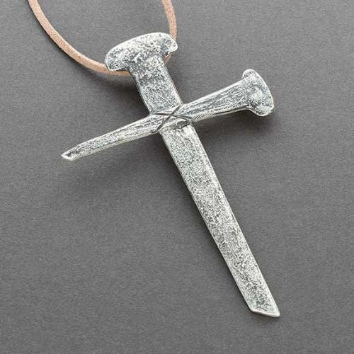 Ira Custer Silver Cross of Tufa Cast Nails
