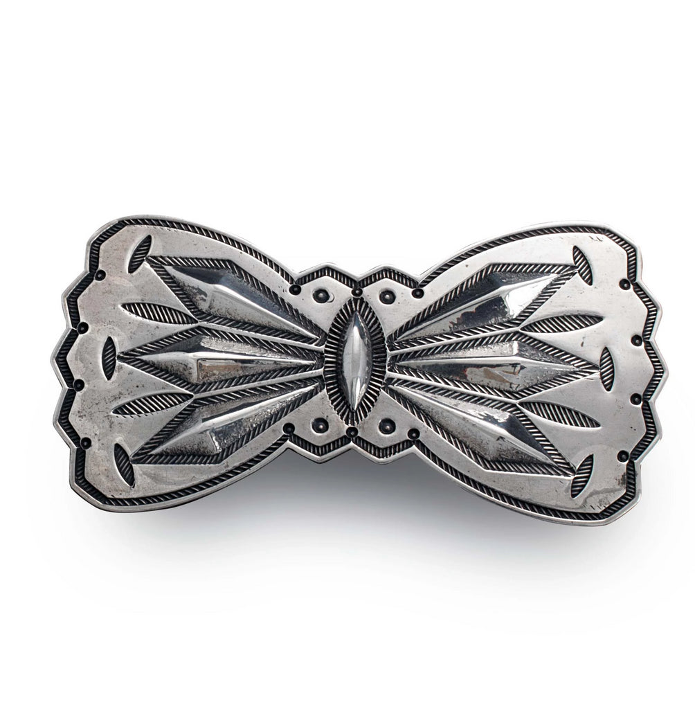 Navajo Silver Butterfly Brooch by McKee Platero