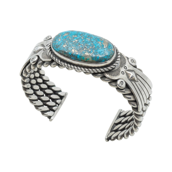 Julian Chavez Ring of Natural Morenci Turquoise