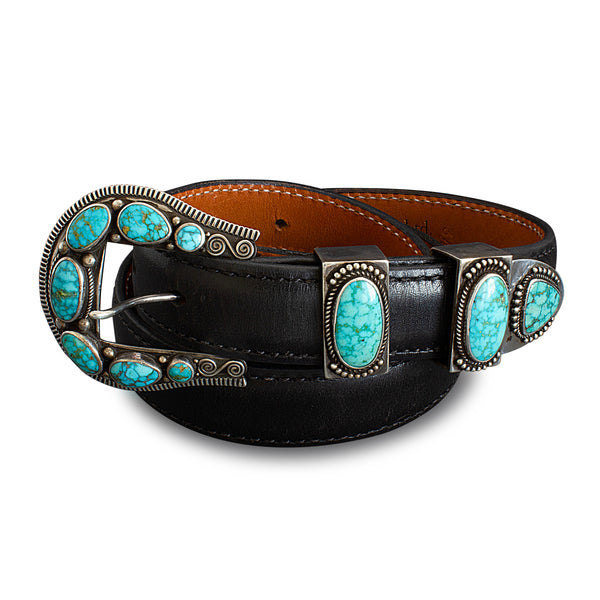 Perry Shorty Ranger Buckle Set With Natural #8 Turquoise