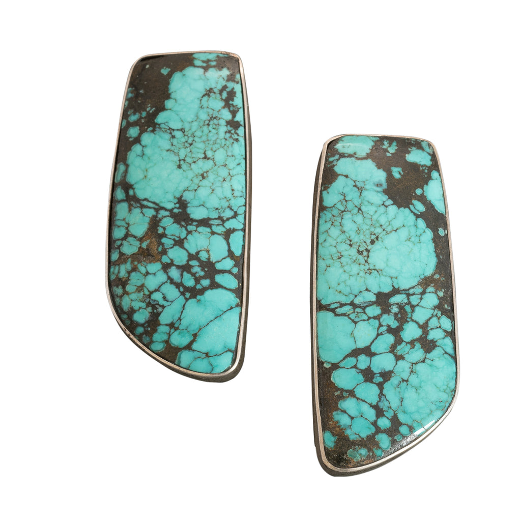 Roger Tsabetsaye Earrings of Fine Natural Turquoise