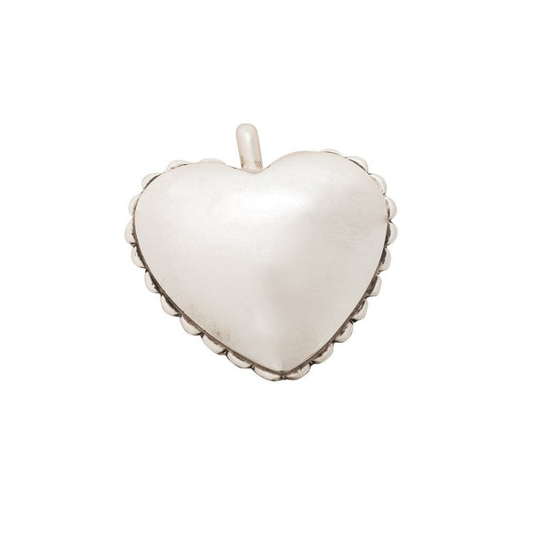 Mitchell Calabaza Heart Pendant of Sterling Silver