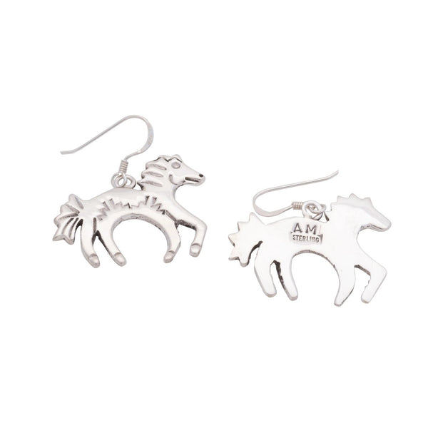Sterling Silver Wild Horse Earrings by Allison Manuelito