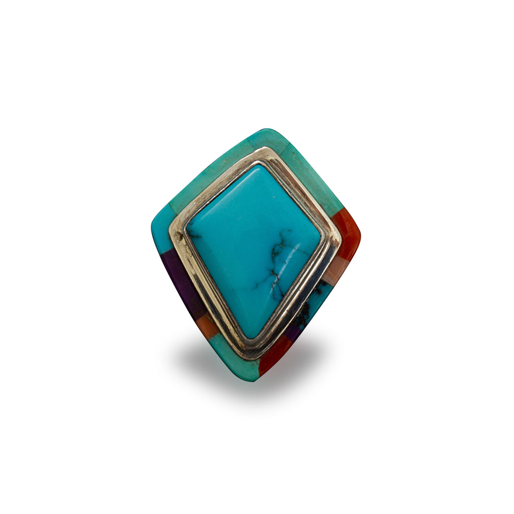 Victor Gabriel Turquoise Inlay Statement Ring