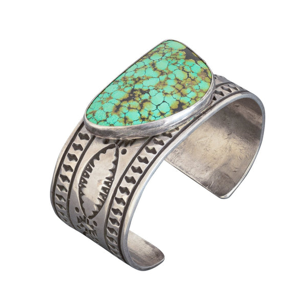 Vintage Navajo Cuff of Turquoise By Ben Yellowhorse