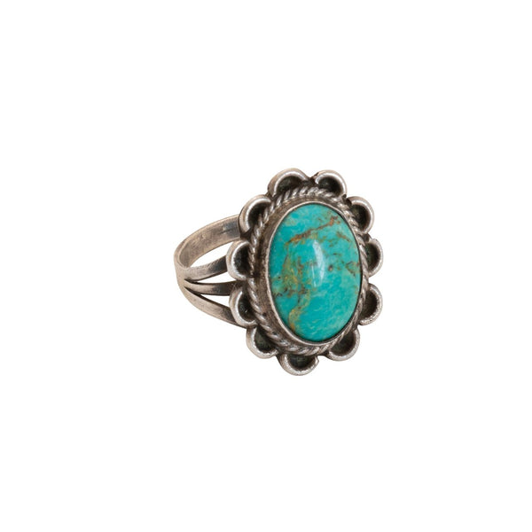 Vintage Navajo Fred Harvey Turquoise Ring