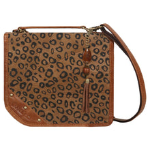 Load image into Gallery viewer, Upcycled Leather Casey Cheetah Crossbody