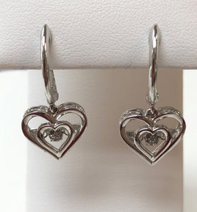 Sterling Silver Rhythm of Love Diamond Earring