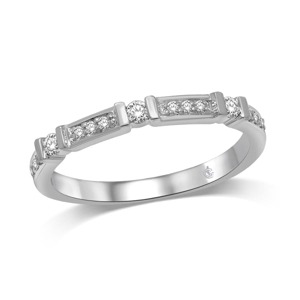 14k White Gold Stackable Ring