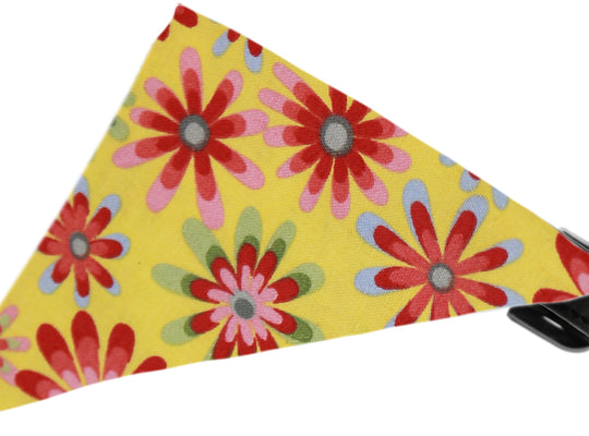 Yellow Crazy Daisies Bandana Dog Collar - Poochles