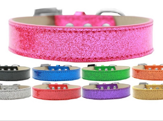 Lincoln Solid Shiny Dog Collar - Poochles