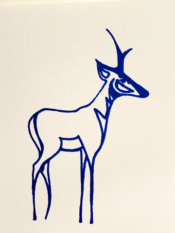 Wyoming Pronghorn Antelope Cards, individually silk screened. various colors, envelopes, blank inside