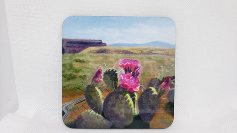 """Cactus""  Coaster from Original Art"