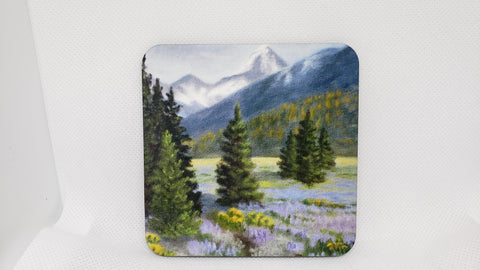 """Lupin Meadow""  Coaster from Original Art"