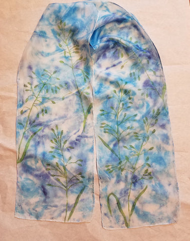 Silk Scarf / Wyoming Native Grass Design