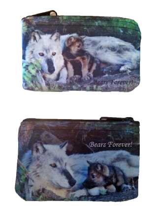 Wolves Neoprene Coin Purse