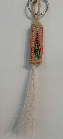 Hitched Horsehair Indian Paintbrush Key Fob