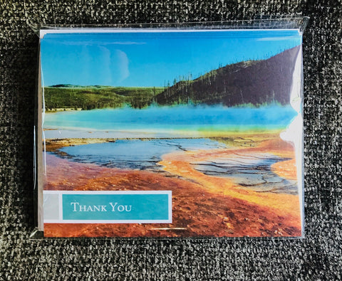 Grand Prismatic Spring Thank You Card 5 b