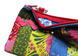 Flower Multi Colored Coin Purse or Cosmetic Travel Bag