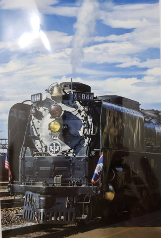 SD-30-C-78 The Union Pacific 844 Steam Locomotive  Front Greeting Card