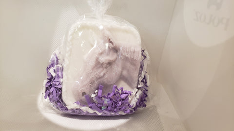 Goat's Milk Horse Soap/Round Shower Steamer in Lavender