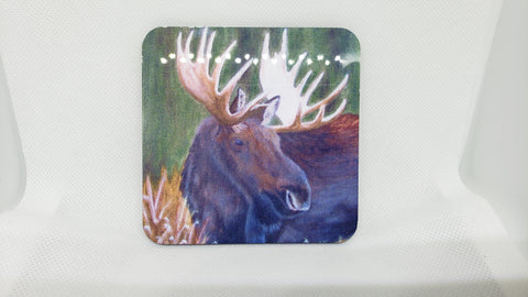 Bull Moose Coaster from Original Art
