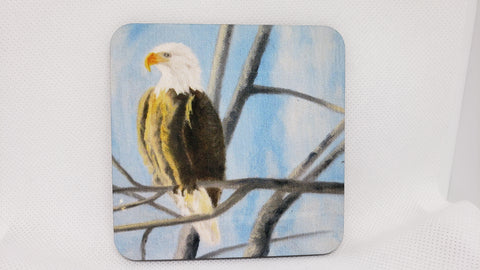 """Bald Eagle"" Coaster from Original Art"