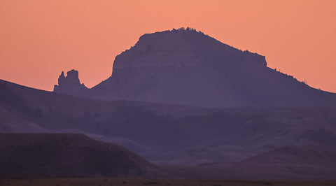 Sunset photography of the Oregon Buttes in the Red Desert, WYoming