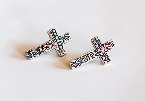 Sterling Silver Crosses / Post Earrings
