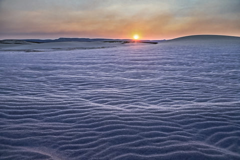 Sunrise at Killpecker Sand Dunes, near Rock Springs, Wyoming by Photographer Jason Sondgeroth.