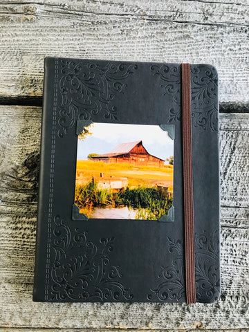 Moulton Barn Dark Brown Leather Journal