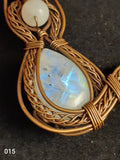 Wired Wrapped Moonstone Kitty Necklace