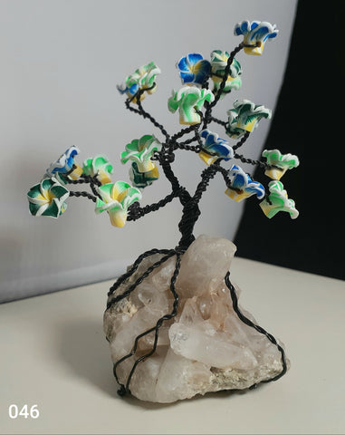 Blue green Flower Tree