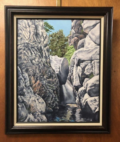 Hidden Water Falls  Oil Painting