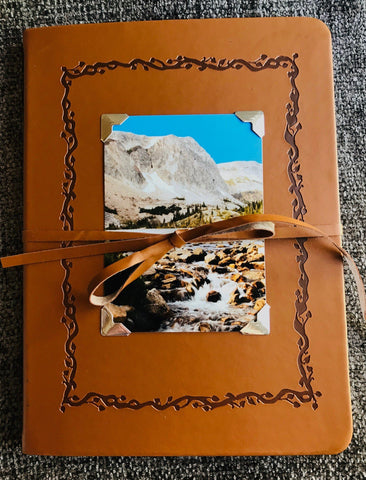 Lake Marie, Snowy Range in Medicine Bow Mountains Leather like Sketchbook
