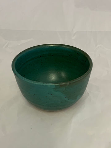 Small Ceramic Teal Glaze Bowl