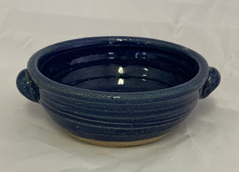 Small  Cobalt Glaze Handled Bowl