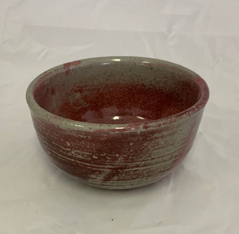 Small Ceramic Pink/Gray Glaze Stoneware Bowl