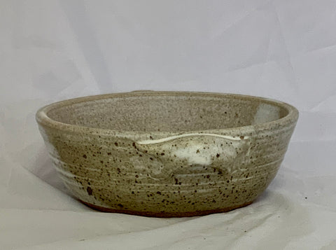 White Gray Stoneware Casserole Dish With Handles