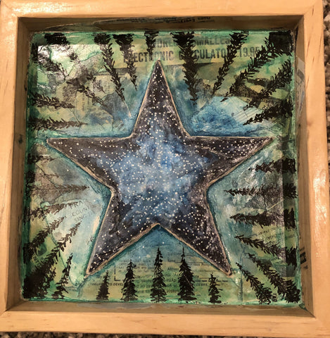 Stars Over Jack Creek, WY Mixed Media