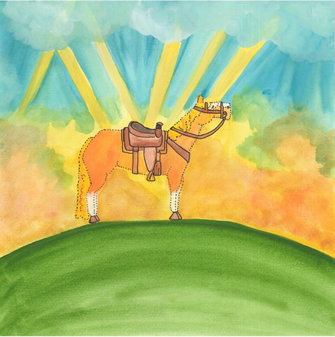 Rusty the Ranch Horse in extra large paperback book, Great for teachers, Learn about  saddles and the code of the west