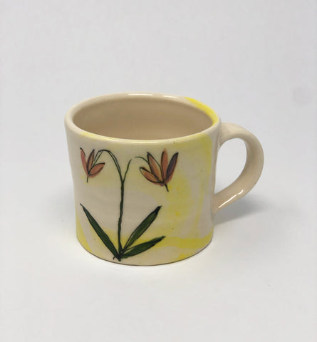 Mug / Yellow Wash / Shooting Star Flower Motif
