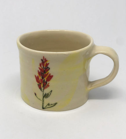 Mug / Yellow Wash / Indian Paintbrush Motif