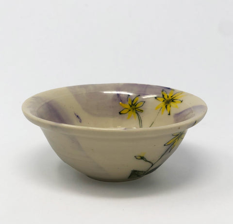 Small Spice Bowl / Purple Wash / Balsamroot Motif